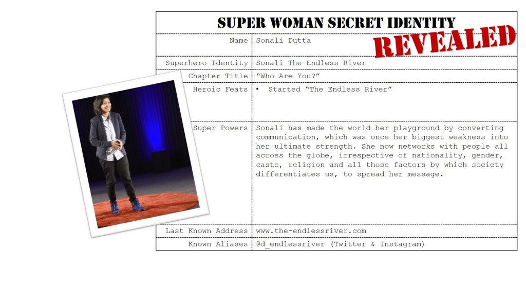 Sonali Dutta, Super Woman